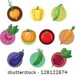 cartoon pumpkin | Shutterstock .eps vector #128122874