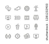 cinema related icons  thin... | Shutterstock .eps vector #1281232903