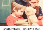 busy kid studying at school.... | Shutterstock . vector #1281241450