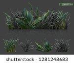 spring. dark green grass  3d... | Shutterstock .eps vector #1281248683