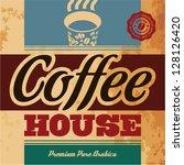 retro coffee menu. coffee house | Shutterstock .eps vector #128126420