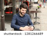 gladden male person sitting at...   Shutterstock . vector #1281266689