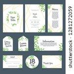 wedding invitation card...   Shutterstock .eps vector #1281272059