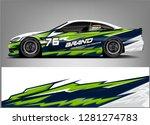 rally car wrap vector designs.... | Shutterstock .eps vector #1281274783