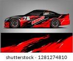 rally car wrap vector designs.... | Shutterstock .eps vector #1281274810