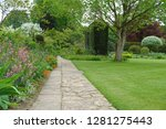 scenic view of a stone path way ... | Shutterstock . vector #1281275443
