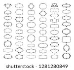 simple doodle frames set  hand... | Shutterstock .eps vector #1281280849