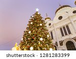 christmas  new year holidays ... | Shutterstock . vector #1281283399