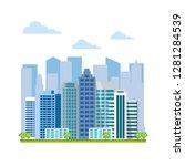 urban landscape  city buildings ... | Shutterstock .eps vector #1281284539