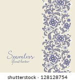 Card With Seamless Floral...