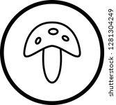 vector mushroom icon  | Shutterstock .eps vector #1281304249
