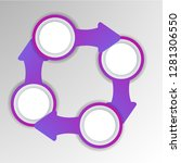 abstract 3d infographic... | Shutterstock .eps vector #1281306550