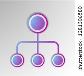 abstract 3d infographic... | Shutterstock .eps vector #1281306580