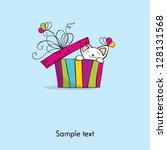 greeting card | Shutterstock .eps vector #128131568