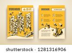 automated storehouse  delivery... | Shutterstock .eps vector #1281316906