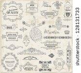 vector set  calligraphic design ... | Shutterstock .eps vector #128131733