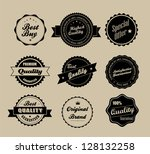 retro vintage labels. editable... | Shutterstock . vector #128132258