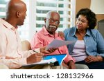 financial advisor talking to... | Shutterstock . vector #128132966