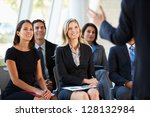 audience listening to... | Shutterstock . vector #128132984