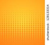 Orange Halftone Pattern  ...