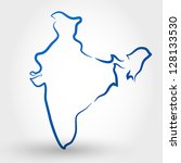 map of india. map concept | Shutterstock .eps vector #128133530