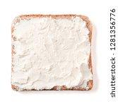bread slice plaster soft curd... | Shutterstock . vector #1281356776