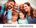 portrait of happy multi... | Shutterstock . vector #1281363256