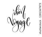 bon voyage   hand lettering...   Shutterstock .eps vector #1281367873