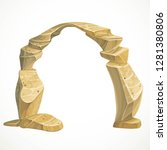 sandstone big arch part of the... | Shutterstock .eps vector #1281380806