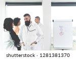 professional handsome hipster...   Shutterstock . vector #1281381370