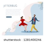 web page design template for... | Shutterstock .eps vector #1281400246