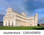 duomo of pisa and leaning tower ... | Shutterstock . vector #1281420850
