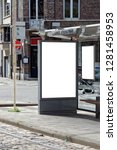blank bus stop banner. this is... | Shutterstock . vector #1281458953