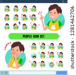 a set of childminder man with... | Shutterstock .eps vector #1281462706
