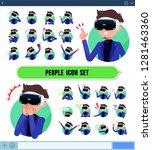 a set of men wearing virtual... | Shutterstock .eps vector #1281463360