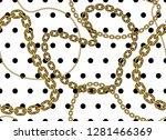 golden chains on polka dots ... | Shutterstock .eps vector #1281466369