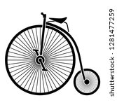 retro bicycle black silhouette | Shutterstock .eps vector #1281477259