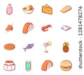 various food related images set.... | Shutterstock .eps vector #1281478276