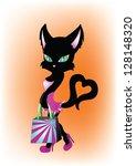 funny devil cat   Shutterstock . vector #128148320