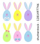 set of easter eggs in the form...   Shutterstock .eps vector #1281497746