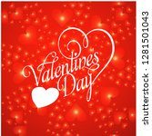 valentine's day background with ... | Shutterstock .eps vector #1281501043