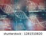 3d image of dna  against image... | Shutterstock . vector #1281510820