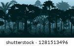 vector horizontal seamless... | Shutterstock .eps vector #1281513496