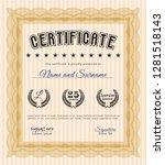 orange sample certificate or...   Shutterstock .eps vector #1281518143