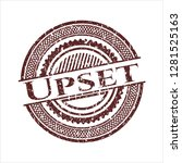 red upset distressed rubber... | Shutterstock .eps vector #1281525163