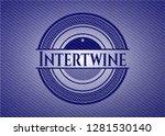 intertwine with denim texture   Shutterstock .eps vector #1281530140