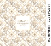 oriental gold and white ornate... | Shutterstock .eps vector #1281542989