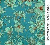 seamless tender floral... | Shutterstock . vector #128154584