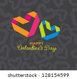 background with color paper... | Shutterstock . vector #128154599