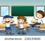 illustration of the three boys... | Shutterstock .eps vector #128154830
